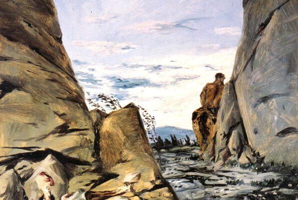 """Fig. 8 - Giorgio de Chirico, """"Centauro morente"""" 1909 (particolare)"""