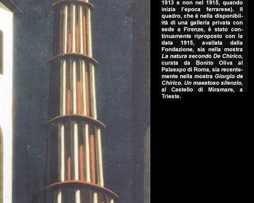 """3. Giorgio de Chirico, """"La grande tour"""" fine anni '40"""