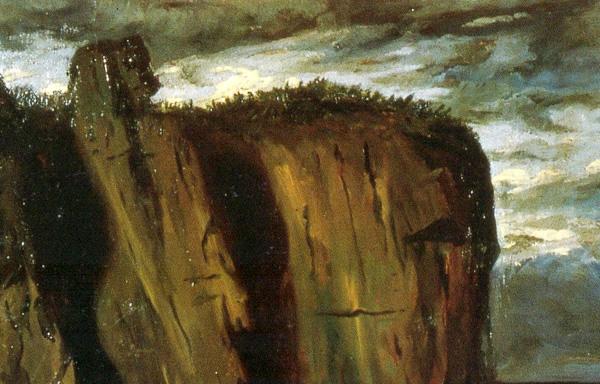 """Fig. 7 - Giorgio de Chirico, """"La Sfinge"""" 1908-09 (particolare)"""